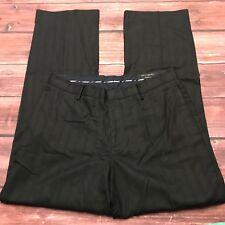Banana Republic Womens Career Pants Modern Fit Black Pinstripe Dress Sz 35 x 34