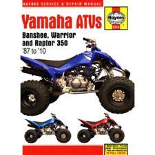 Haynes Repair Manual Yamaha Banshee Warrior & Raptor Atvs 1987 - 2010 For