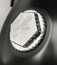 Hayabusa GSXR 600//750//1000 Chrome Tail Lock Cap Rear Latch Cover w//Ball Cut Edge