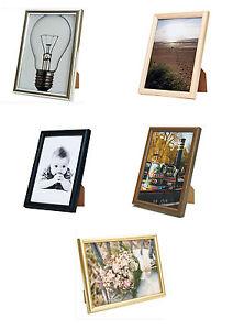 Budget Wooden Photo Frame 6x4 5x7 6x8 10x8 12x10 A4 A312x16
