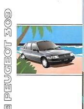 Peugeot 309 estilo, XL, GL, GR, GRI, GRD y GTI folleto de ventas Sept. 1990 para 1991