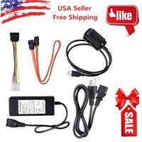 USB 2.0 to IDE SATA S-ATA 2.5 3.5 HD HDD Hard Drive Adapter Converter Cable AP04