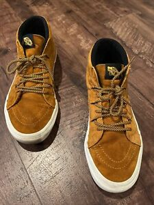 Vans Off The Wall Mens SZ 11.5  Shoes, Scotchgard Protection 3m, High Top, Tan