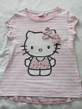 NEXT Hello Kitty spogliato t'shirt, anni 10 in buone condizioni