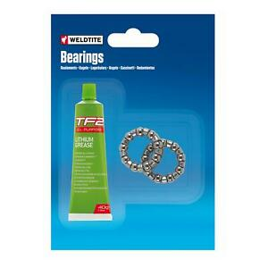 """Weldtite Bike Cycle Caged BB Ball Bearings With Grease 1/4"""" Bottom Bracket Cages"""