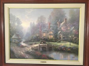 Thomas Kinkade Beyond Spring Gate II on Canvas Limited Edition, Signed, Framed