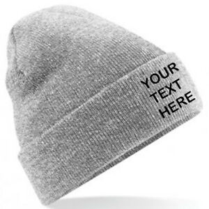 Personalised/Customised/Embroidered Classic Beanie Hat, Text/Logo, 28 Colours!!!