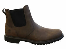Timberland Stormbuck Chelsea Brown Leather Slip On Mens Boots 5552R