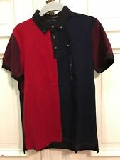 Tommy Hilfiger Poloshirt Polo Shirt Slim Fit Gr. M f. Herren Blau 100% Baumwolle