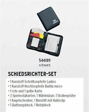 Erima Schiedsrichter- Set 544189 Referee Schiri Pfeife Mappe Karten Quittung NEU