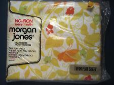 TWIN FLAT SHEET * Papillon * Design Yellow Vines Butterflies Morgan Jones - New