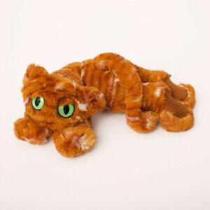 NEW PLUSH SOFT TOY Manhattan 152760 Ginger the Lavish Lanky Cat 35cm Green Eyes