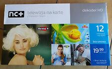 NC+ START+ TNK Telewizja na karte Dekoder HD z karta na 12 Miesięcy