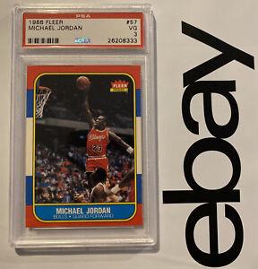 Michael Jordan ROOKIE PSA 3 Fleer Collector Card 1986 #57 Man Cave Investment