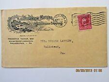 Union Mutual Insurance, 1915 Philadelphia cancel w/Type A140 Washington