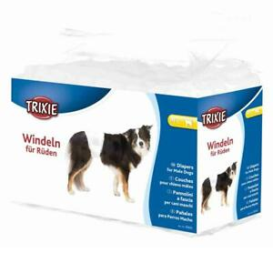 12 x Trixie Male Dogs Diapers, Disposable Nappies - Medium-Large, 46-60 cm Waist