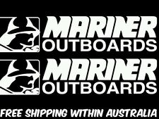 mariner outboard motor decal sticker x2.boat trailer car ute