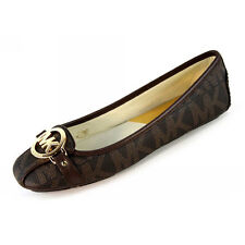 Michael Kors Flats MK Shoes Fulton Moc Signature Leather Brown Size 8.5 Paypal