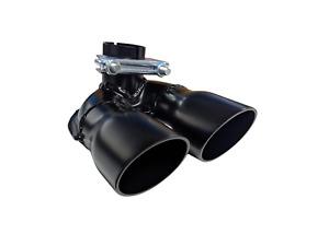 Auspuffblende Doppelrohr schwarz für SMART Typ 450 Fortwo City Coupe Cabrio
