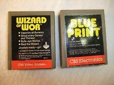 Atari 2600 lot of 2 wizard of wor & Blueprint