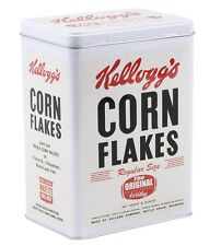 Retro KELLOGGS Corn Flakes The Original STORAGE TIN Cereal Cookie Jar