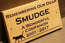 Pet Memorial - Personalised Engraved Oak Wooden Sign Plaque