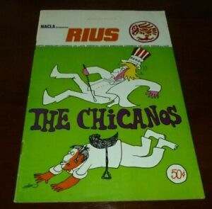 THE CHICANOS COMIC BOOK CHICANO MEXICAN POLITICAL RIUS 1973 NACLA PRINTED MEXICO