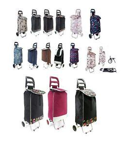 2 Wheel Folding Shopping Trolley Mobility Bag Cart Market Laundry Travel Shopper