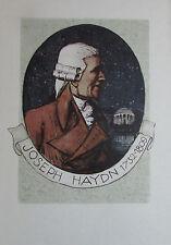 Igo Pötsch PORTRÄT JOSEPH HAYDNS Originaldruck aus 1932 Reproduktion print