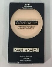 Wet N Wild CoverAll Pressed Powder .26 Oz New Sealed 824B LIGHT MEDIUM