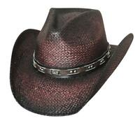 NEW Bullhide Hats 2798 Run A Muck Collection Burnin  Down Wine Cowboy Hat 427b75be6064