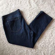 Old Navy Womens Jean Petite 18 18P Boyfriend Straight Leg Dark Wash Stretch