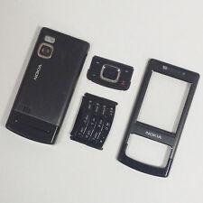 Genuine Full Housing Front Back & Keypad For Nokia 6500 Slide 6500s Black