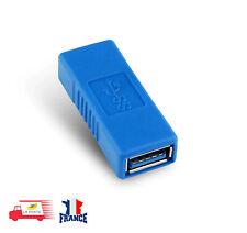 USB 3.0 A Femelle vers Femelle Adaptateur convertisseur d'extension bleue