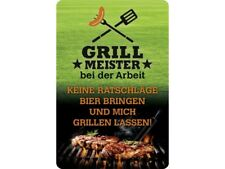 Grillmeister Blechschild 20 x 30 cm  PC 300/467 Grillen BBQ Grill Funschild