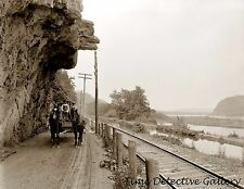 Hanging Rock on Susquehanna River, Danville, Pennsylvania - Historic Photo Print
