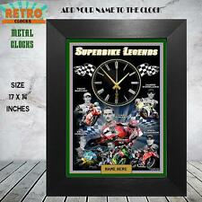 PERSONALISED WSB SUPERBIKES  RACING MOTORSPORT   Metal WALL CLOCK