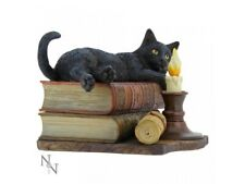 More details for the witching hour cat figure by lisa parker black cat on books (b2801g6)