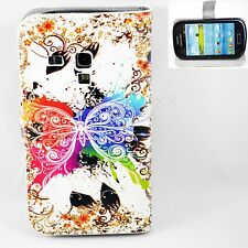 Premium Flip Leather Wallet Cover Case For Samsung Galaxy S3 III Mini i8190