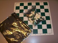 Complete Analysis Chess Set - Forest Green*  + FREE pouch + FREE Shipping!