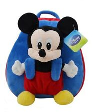 """Disney Mickey Mouse Stuffed Plush Toy Kids Schoolbag Backpack H11"""" Blue"""
