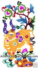 Chinese Folk Art Paper Cuts Chinese Zodiac Symbol - Ox