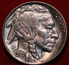 Uncirculated 1937 Philadelphia Mint  Buffalo Nickel