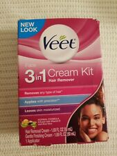 Veet 3-in-1 Face Cream Hair Remover Kit Hair Removal Exp 04/2021