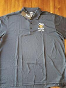 NWT Adidas Climalite Men's M Black Polo Golf Shirt Tito's Vodka Logo