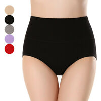 Women Panties Breathable Briefs Soft Feeling Knickers Simple Solid Underpants