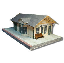 N Scale Building 1:160 Train Station / Depot - Pre-Cut Paper Model Kit - SDN1