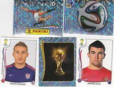 Panini FIFA World Cup Brazil 2014 Stickers - pick any 30 from list