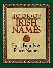 The Book of Irish Names: First, Family and Place Names-ExLibrary