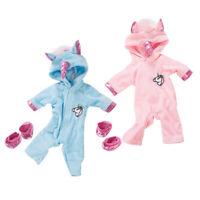 1 Set Puppenkleidung Winter Overall Einhorn Schlafanzug für 43 cm Baby Puppen